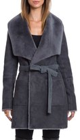 Bagatelle Genuine Shearling Wrap Coat