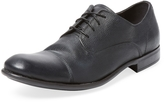 John Varvatos Men's Cap-Toe Leather Derby