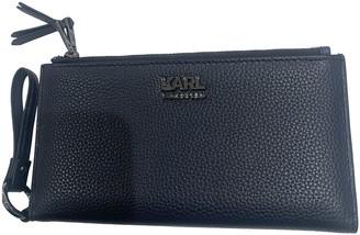 Karl Lagerfeld Paris Navy Leather Wallets