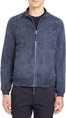 Theory Men's Tremont Goat Suede Bomber Jacket