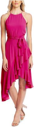 CeCe Cascading Ruffle Halter Dress
