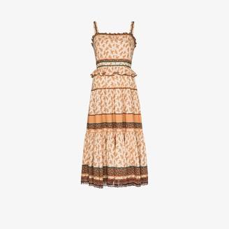 Ulla Johnson Cecilie floral-print midi dress