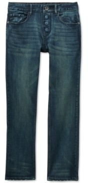Seven7 Men's Sunshine Adaptive Classic Straight-Fit Power Stretch Textured Jeans