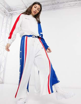 Champion reverse weave cut & sew loose fit joggers with poppers