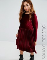 Alice & You Velvet Skater Dress