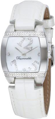 Façonnable Women's Watch Dome Diamonds White 170010003