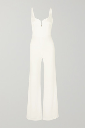 Galvan Paneled Crepe Jumpsuit - White