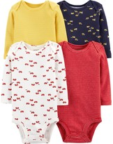 Carter's Baby Boy 4-Pack Long-Sleeve Original Bodysuits