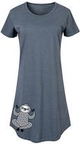 Instant Message Women's Women's Tee Shirt Dresses HEATHER - Heather Blue Yoga Sloth Short-Sleeve Dress - Women & Plus
