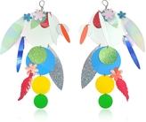 Christopher Kane Oversize Disc Multicolor Earrings