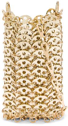 Paco Rabanne Mini 1969 Metallic Disc Bag in Light Gold | FWRD