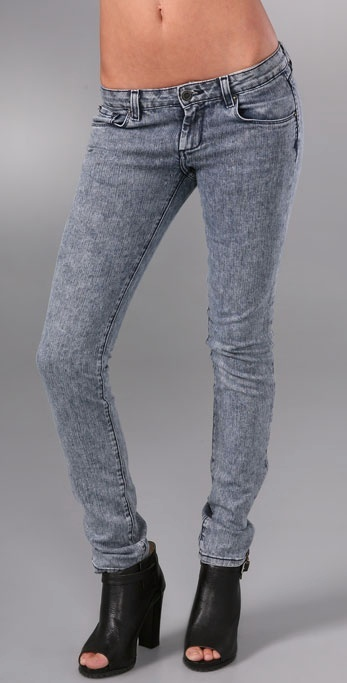 Unknown Factory Zipper Pocket Skinny Jeans