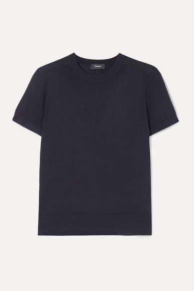 Wool-blend T-shirt - Navy