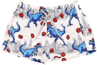 MC2 Saint Barth Dino Print Nylon Swim Shorts