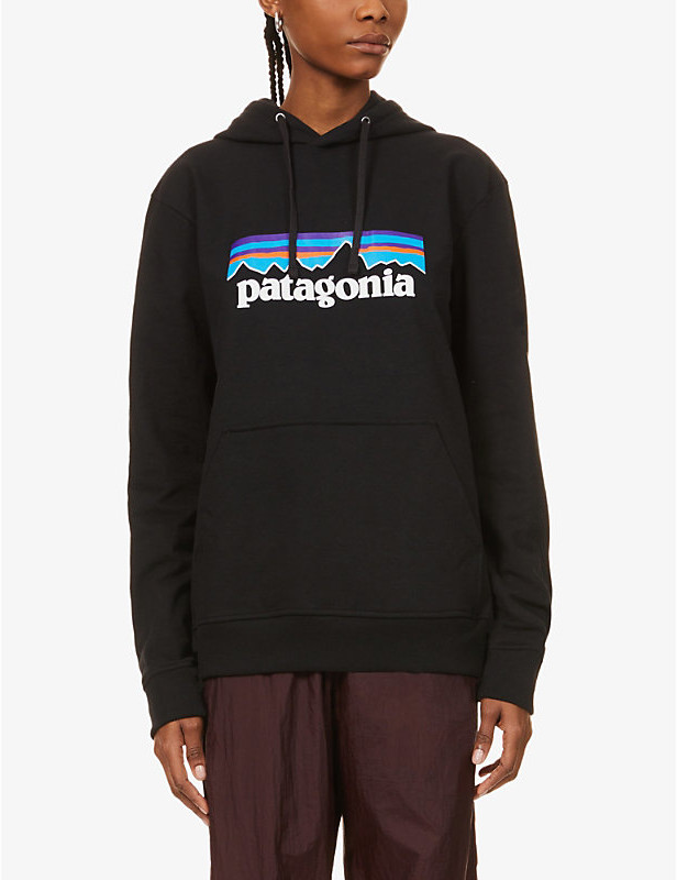 P-6 Uprisal logo-print recycled-cotton and polyester-blend hoody