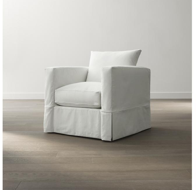 J.K. Adams Slipcover Only for Willow Chair - Snow