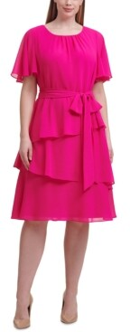 Jessica Howard Plus Size Tiered A-Line Dress