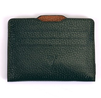 Atelier Hiva Double Card Holder Forest Green & Brown