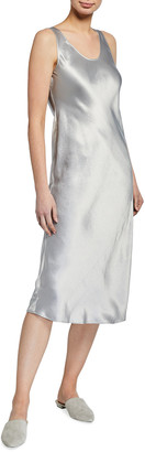 MAX MARA LEISURE Satin Scoop-Neck Midi Dress
