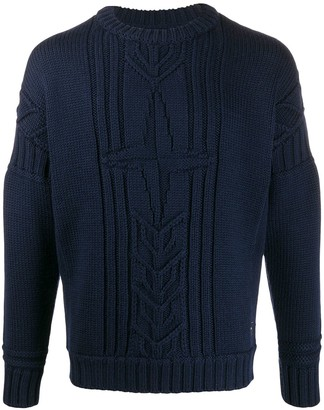 Stone Island Oversize-Cable Knit Sweater