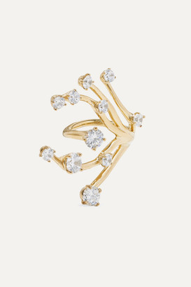 Panconesi Constellation Fire Gold-plated Crystal Ring - 52