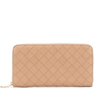 Bottega Veneta Intrecciato Weave Zip-Around Wallet