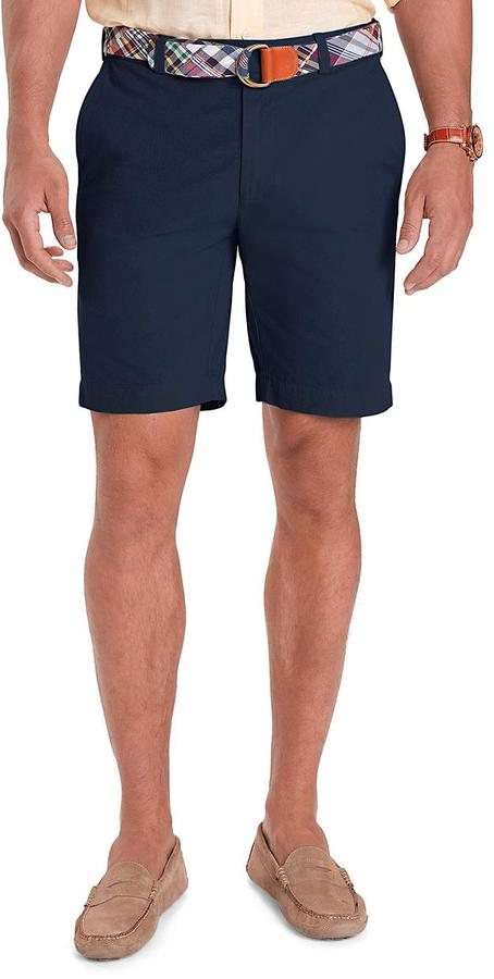 Brooks Brothers Garment-Dyed Plain-Front 9 Inch Twill Shorts