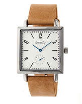 Simplify Mens Brown Strap Watch-Sim5005