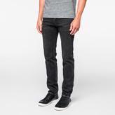 Paul Smith Men's Slim-Standard Dark-Wash Black Jeans