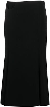Versace Cut-Out Detail Skirt