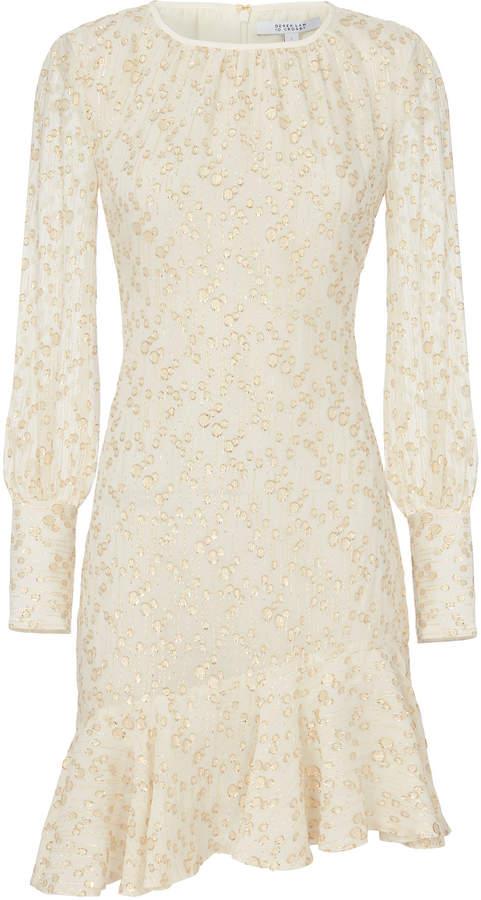 Derek Lam 10 Crosby Lurex Asymmetric Mini Dress