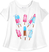 INC International Concepts Popsicle Graphic-Print Cold-Shoulder T-Shirt, Little Girls (4-6X), Created for Macy's