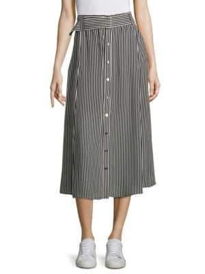 A.L.C. Divya Striped Silk Skirt