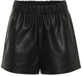 Tibi Faux-leather shorts