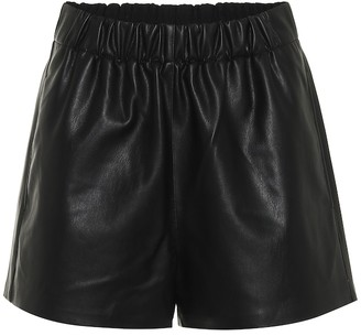 Tibi Faux-leather shorts