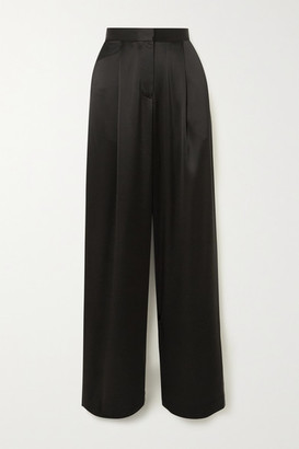 Matteau Satin Wide-leg Pants - Black