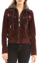 Bagatelle Zippered Leather Aviator Jacket