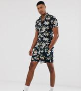Asos Design DESIGN Tall slim shorter shorts in floral print