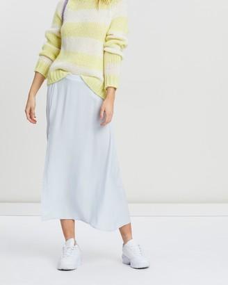 NA-KD Side Split Midi Skirt