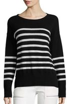 Joie Simonne Mariner Stripe Cashmere Knit Sweater