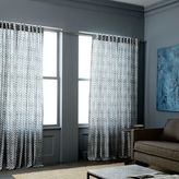 west elm Cotton Canvas Stamped Dots Curtains (Set of 2) - Shimmer