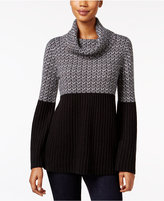 Style&Co. Style & Co. Petite Colorblocked Cowl-Neck Sweater, Only at Macy's