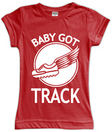 Urban Smalls Red 'Baby Got Track' Fitted Tee - Toddler & Girls