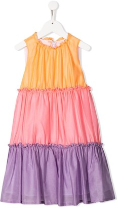 Il Gufo Colour-Block Flared Dress