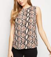 New Look Tall Snake Print Sleeveless Top