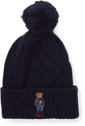 Ralph Lauren Polo Bear Pom-Pom Hat