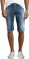 True Religion Ricky Distressed Cutoff Shorts, Indigo