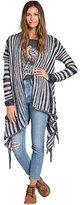 Billabong Junior's Loosen Up Stripe Cardigan Sweater
