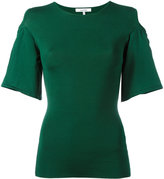 Ganni - cold shoulder top - women - Polyamide/Viscose - XS