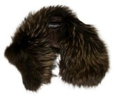 Adrienne Landau Brown Fur Stole w/ Tags